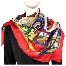 Hermes Silk Scarf L'Elegance et le Confort en Automobile RARE