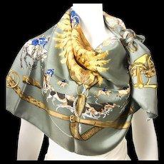 Hermes Vintage Silk Scarf Le Bien Aller