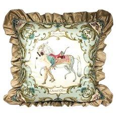 Exclusive European Designer Luxury HERMES Pillow - Cheval Turc