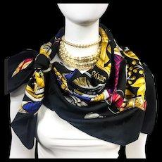 Hermes Silk Jacquard Scarf Daimyo - Princes Du Soleil Levant RARE