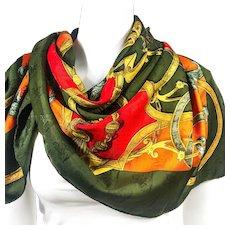 Hermes Silk Jacquard Scarf L'Instruction du Roy