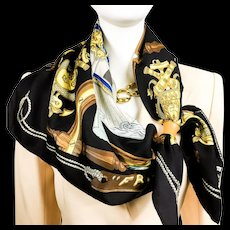 Hermes Silk Scarf France Vintage - RARE 1962