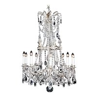 Versailles Louis XVI Style French Silver Chandelier, circa 1910