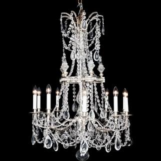 Versailles Louis XVI Style French Silver Chandelier, circa 1910