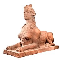 Sphinx signed u. dated V. Felix Austin