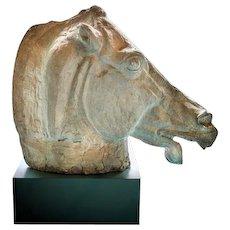 Large Horse Head Sculpture