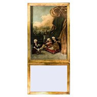 Rare Louis XVI Trumeau Mirror - Tee Ceremony in the Harem
