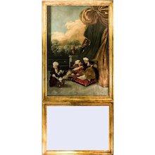 Rare Louis XVI Trumeau Mirror - Tee Ceremony in the Harem