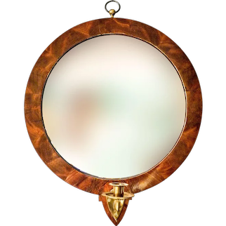 Pair of Round Empire Mirrors
