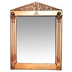 Mirror from a Freemason's Lodge