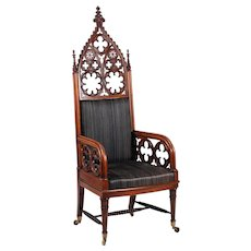 Rare ornate Russian armchair by Edward Gambs