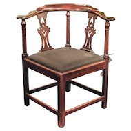 18th Century Hepplewhite Corner Chair