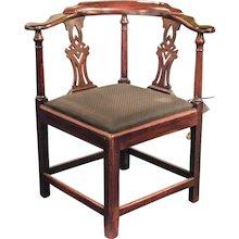 18th Century Hepplewhite Corner Chair