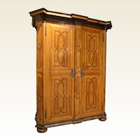 Fruitwood Armoire with Inlay