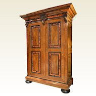 Dutch Cabinet with Tortoise Shell