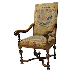 Needlepoint Continental Fauteuil