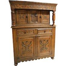 Elizabethan Style Oak Cabinet