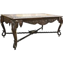 Carved Elephant Table