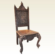 Set of Carved Elephant Sidechairs