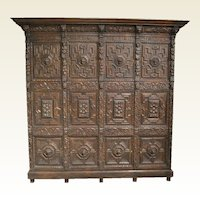 Early Flemish Oak Cabinet