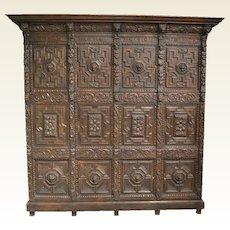 Early Flemish Oak Cabinet
