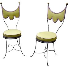 Pair of Decorative Chairs by Erwin Gruen