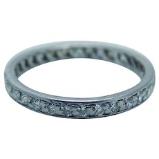 Tiffany&Co Diamond Ring Eternity Band Platinum .32ct Wedding