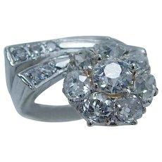 Vintage Diamond Ring 1.96cttw Old Mine cut Gold