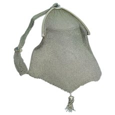 Tiffany&Co Mesh Purse Bag Sapphires Pearls Gold
