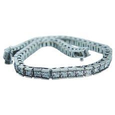 "Diamond Tennis Line Bracelet 3.00cttw 14KWG  7.5"" Long"