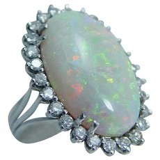 Opal Diamond Ring 9.83ct 14KWG