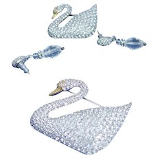 Swarovski Bracelets Swan Brooches Earrings Authentic Lot New box tags