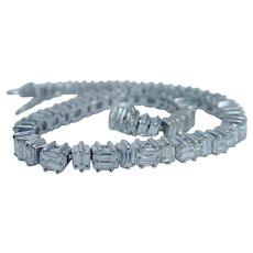 Platinum Diamond Line Tennis Bracelet 8.60cts Asscher cut Appraisal
