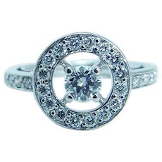 Boucheron Diamond Ring 18K White Gold .76ct PRG29652 sz 50
