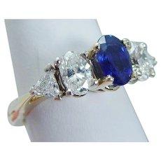 FingerMate Sapphire Diamond Band Ring Splint Arthritis 14KYG