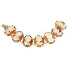 Shell Cameo Large Bracelet 14K Gold
