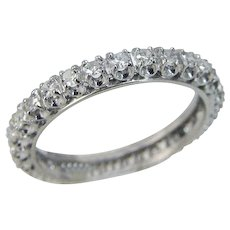 Platinum Diamond Eternity Band Ring Platinum Single cut Diamonds