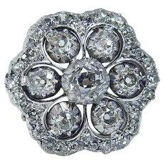 19th Century Victorian Diamond Gold & Platinum Ring