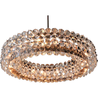 Very Charming and Big Bakalowits Chandelier 1960s