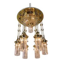 Magnificent and Huge Art Deco Chandelier Vienna, 1920s