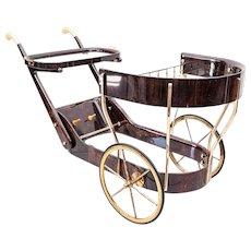 Bar cart by Aldo Tura 1960s
