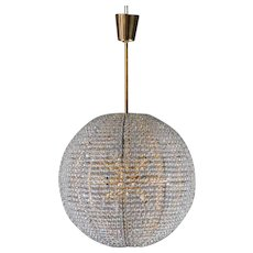 "Gold-plated Bakalowits ""Supernova"" chandelier, 1960,"