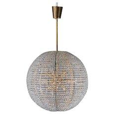"Gold-plated Bakalowits ""Supernova"" chandelier, 1960,"