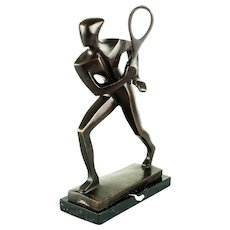 Bronze Tennis Player Attributed to William Ernst Wauer, circa 1925