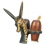 Walter Bosse Zebra Donkey Salt and Pepper shaker set.