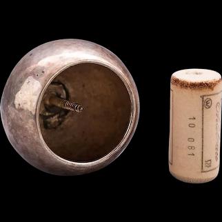 Silvered Bottle Stopper by Josef Hoffmann Wiener Werkstätte