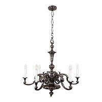 Huge historistic Bronze chandelier around 1890s