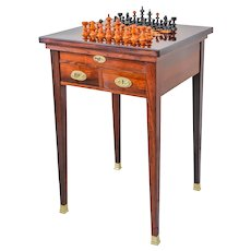 Viennese Convertible Chess Table Nutwood