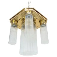 Jugendstil Ceiling Lamp with Glass Sticks