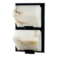 BLOCK 185 double metal wall sconce by Pierre Chareau